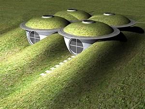 Moderne Erdhäuser und ökologische Architekturkonzepte mit