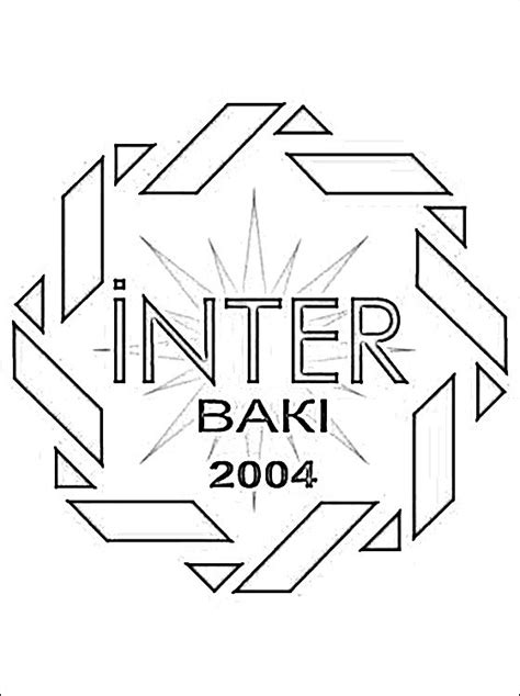 escudo del fk inter baku dibujos  colorear