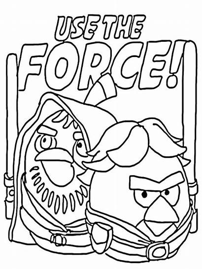 Coloring Wars Star Pages Angry Birds Printable
