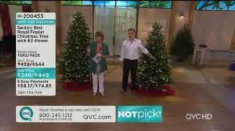 Qvc Bethlehem Lights Christmas Trees by Santa S Best 9 Frasier Fir Christmas Tree With Ez Power