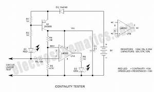 Continuity Tester Circuit Differentiates Resistance