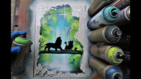 lion king hakuna matata glow  dark spray paint art