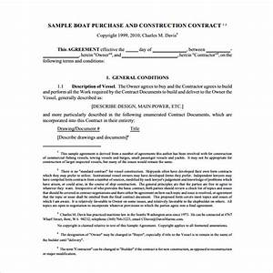 sample boat purchase agreement 9 free documents With boat partnership agreement template