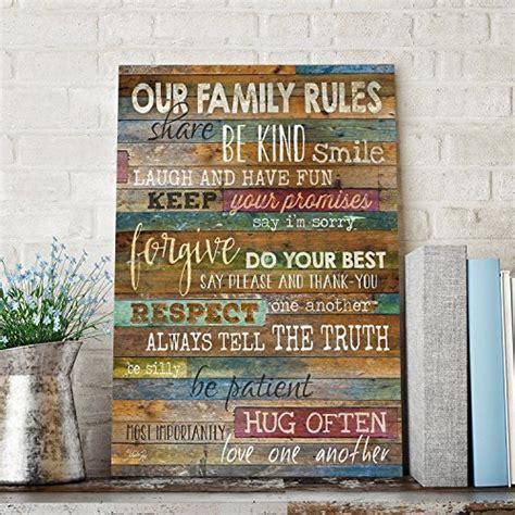 Marla Rae Beach Our Family Rules Wood Wall Art, 12x18