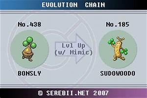 Pokemon Fire Red Evolve Chart Pokémon Of The Week Sudowoodo