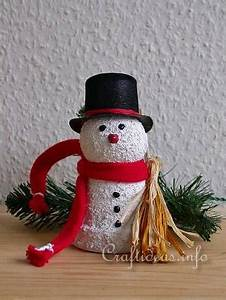 Free Kids Christmas Craft Project Clay Pot Snowman