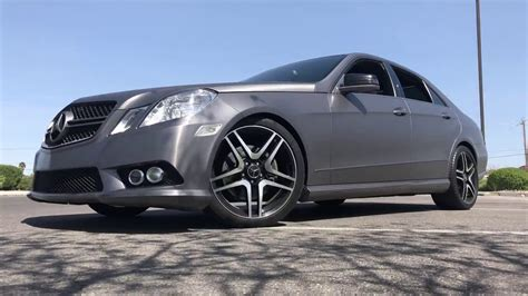 Sporty look with good handling and braking. W212 2010 Mercedes-Benz E350 Sport Muffler Delete in 4K - YouTube