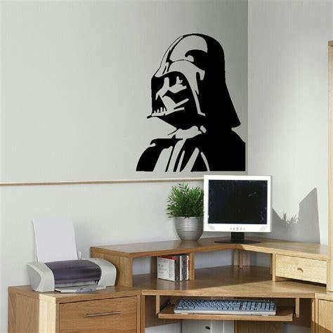 large darth vader star wars kitchen bedroom wall mural stencil transfer decal ebay
