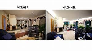 Wohnzimmer Vorher Nachher : indirekte beleuchtung mit led vorher nachher ~ Watch28wear.com Haus und Dekorationen