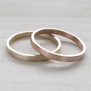hers and hers wedding band set 2x1mm bespoke recycled With lesbian wedding ring