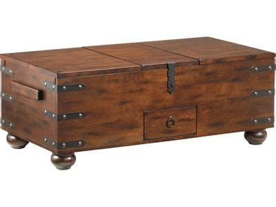 trunk coffee table features left   side