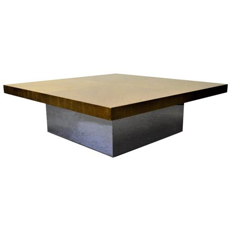 This is my first attempt to recreate one of their pieces. Milo Baughman for Thayer Coggin Walnut/Chrome Coffee Table For Sale at 1stdibs