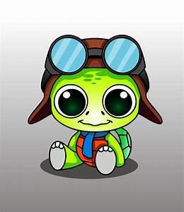 Cute cartoon animal with big eyes free image