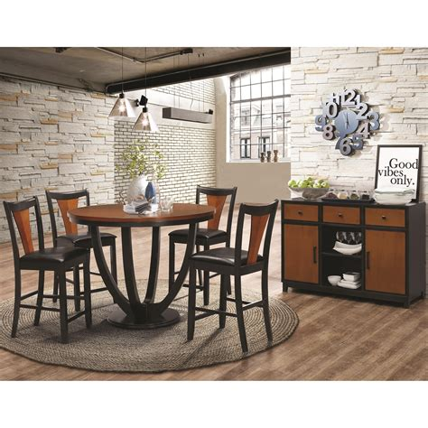 coaster boyer contemporary 5 counter height table
