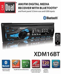 Dual Xdm16bt Am  Fm Digital Media Receiver With Bluetooth