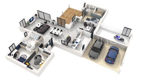cr r sa chambre en 3d plan 3d maison gratuit plan de maison moderne plan
