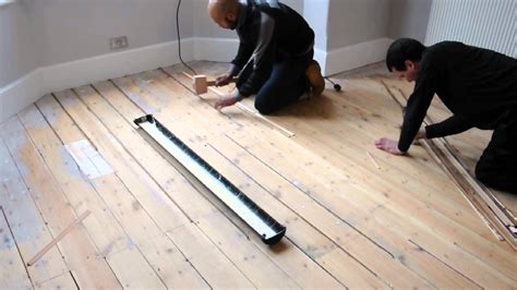 filling gaps   floorboards  reclaimed slivers