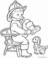 Coloring Pages Animal Fire Safety Printable Colouring sketch template