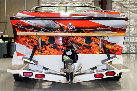 American Flag Boat Wrap by American Flag Vinyl Boat Wrap Zilla Wraps
