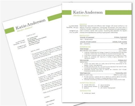 modern microsoft word resume  cover letter template
