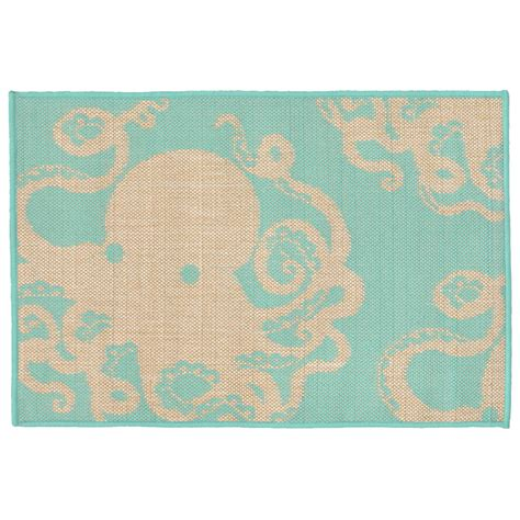 turquoise outdoor patio rug area rug