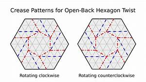 Origami Tessellation Basics  Open-back Hexagon Twist