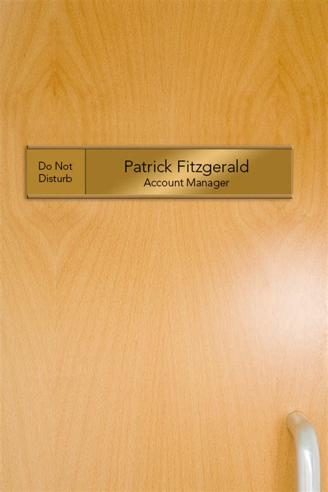 custom sliding signs  nameplates  doors