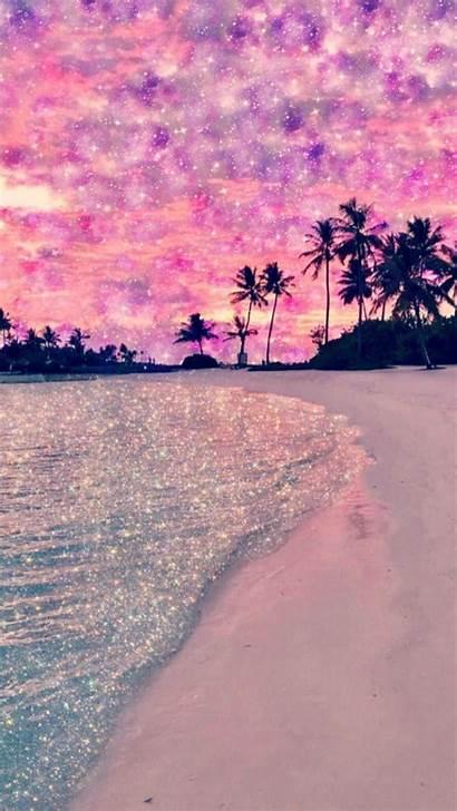 Beach Pink Glitter Wallpapers Backgrounds Galaxy Purple