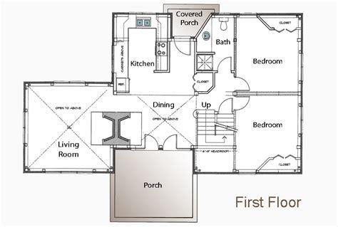 small cabin house floor plans post  beam floor plan
