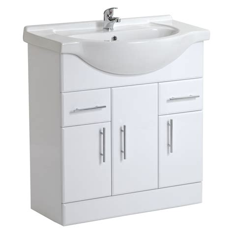 Bathroom Basin Cabinet by White Gloss Bathroom Vanity Unit Basin Sink Cabinet