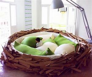 the bird39s nest bed dudeiwantthatcom With nest sofa bed