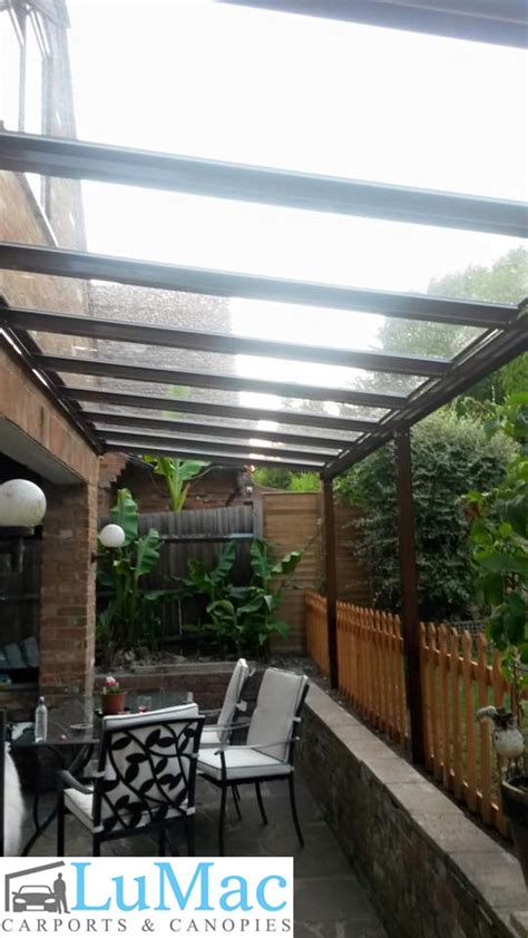 patio canopy clear  glass canopies
