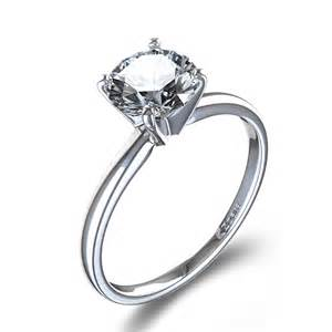 circular engagement rings timeless four prong solitaire engagement ring in 14k white gold