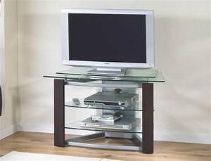 Meuble Tv Haut : meuble tv haut en verre ~ Teatrodelosmanantiales.com Idées de Décoration