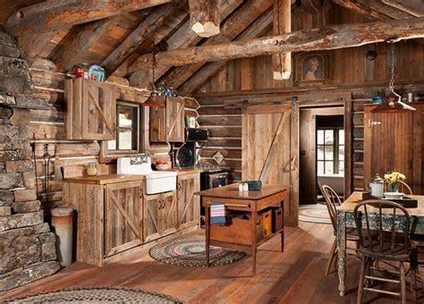 rustic cabin kitchen ideas whitefish montana historic cabin remodel rustic