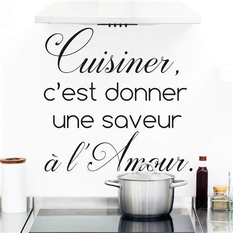 stickers ecriture pour cuisine sticker citation cuisine cuisiner c 39 est donner une saveur