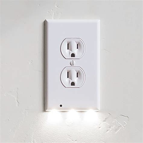 outlet plate night light snappower guidelight outlet coverplate whdu with led