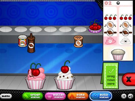 jeux de cuisine papa cupcakeria jouer à papa 39 s cupcakeria jeux gratuits en ligne avec