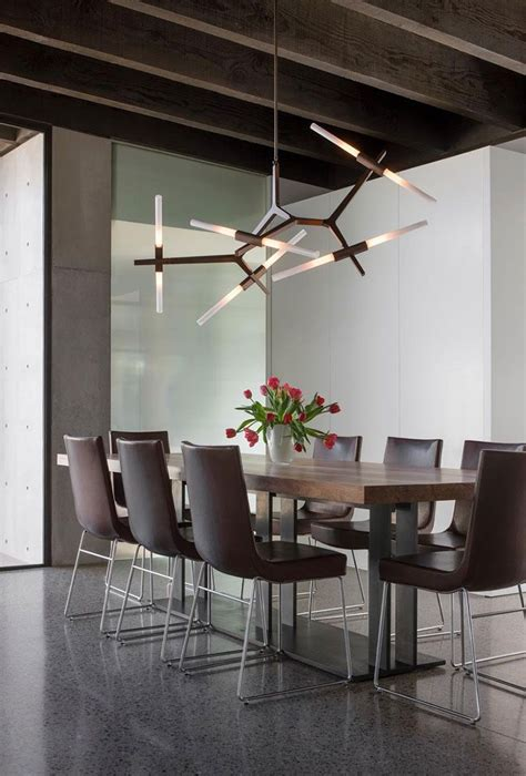 Modern Dining Room Lighting by Adelman Agnes Chandelier 10 Bulbs Interior