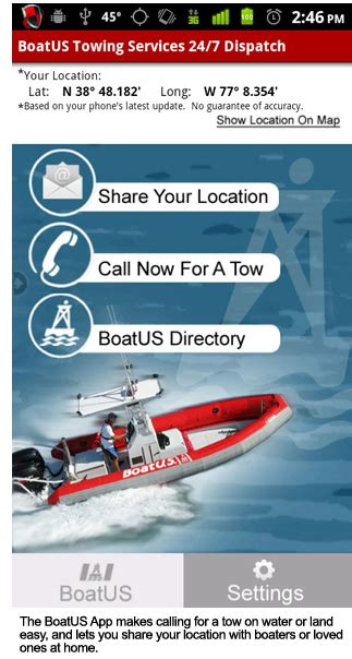 Tow Boatus Alexandria Va by Boatus Smart Phone App Will Get You Home When Your Boat Won T