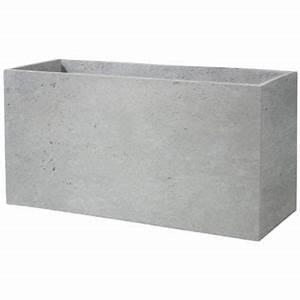 Bac A Fleur Muret : muret gypse en fibre gris castorama ~ Teatrodelosmanantiales.com Idées de Décoration
