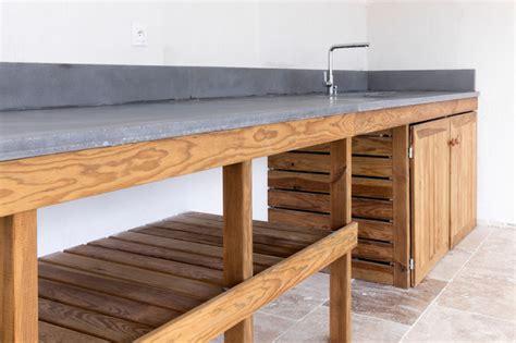 meuble de cuisine bois cuisine d 39 été meuble bois massif et plan de travail