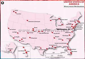 Usa honeymoon destinations map honeymoon in usa for Places to honeymoon in the us