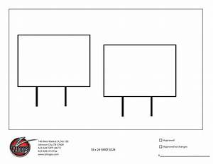 pricing With yard sign design template