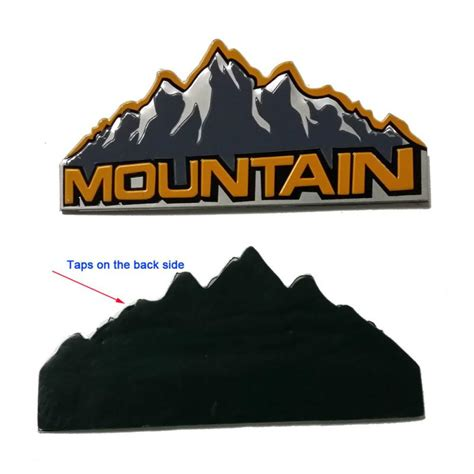 mountain jeep logo 2pcs aluminum jeep mountain logo decals emblem badge