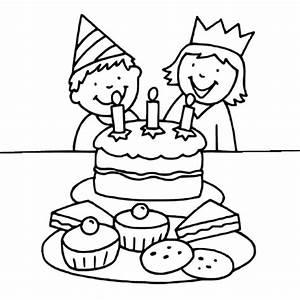 Dessin Gateau Anniversaire : g teau d 39 anniversaire avec 3 bougies coloriage g teau d ~ Melissatoandfro.com Idées de Décoration