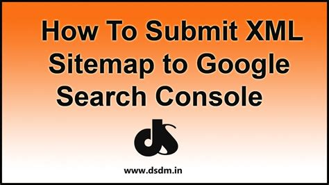 How Submit Xml Sitemap Google Search Console Youtube
