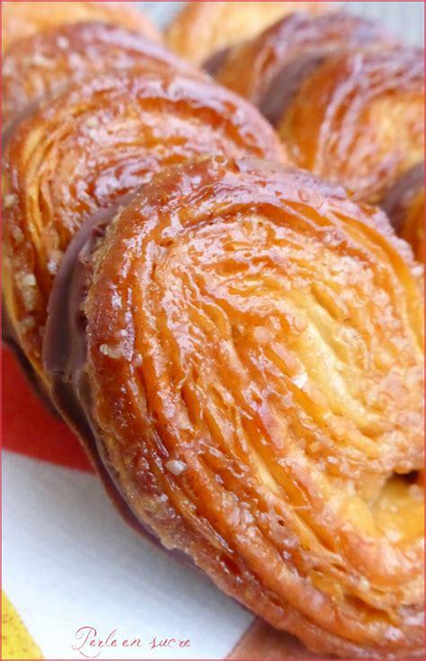 palmiers avec option nappage chocolat perle en sucre