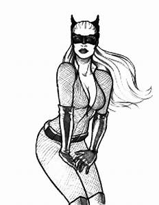 Skecthing Cat Women Coloring Pages   Best Place To Color