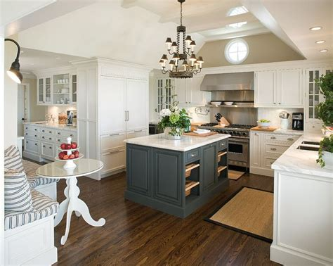 white kitchen with colorful accents 20 stylish ways to work with gray kitchen cabinets 1833